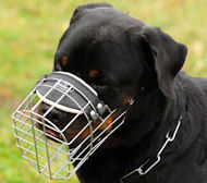 Wire Basket Dog Muzzle for Rottweiler Or Similar Snout Size