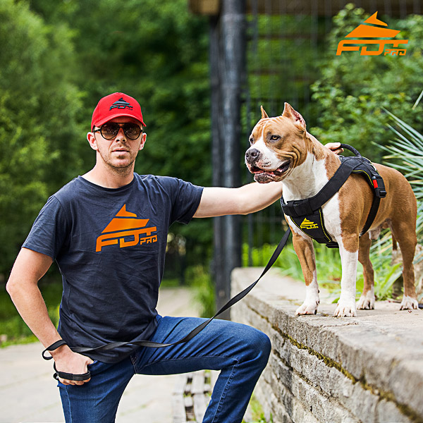Men T-shirt of Durable Cotton with FDT Professional Logo for Dog Training