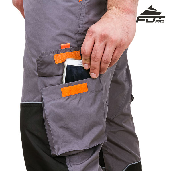Comfortable Velcro Side Pocket on Professional Design Dog Tracking Pants