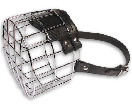Wire Basket Dog Muzzle For Big Dogs - best dog muzzle